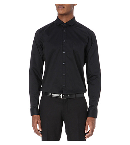 TIGER OF SWEDEN Steel single-cuff shirt (Black