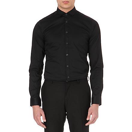 TIGER OF SWEDEN Steel single-cuff shirt (Grey