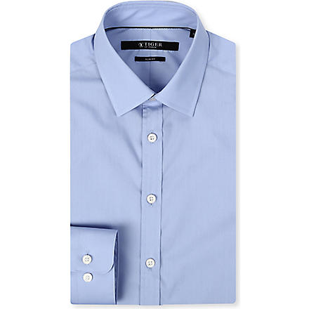 TIGER OF SWEDEN Steel formal slim-fit shirt (Sky