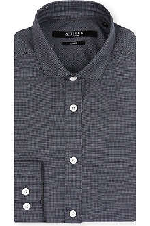 TIGER OF SWEDEN Micro-gingham Steel shirt