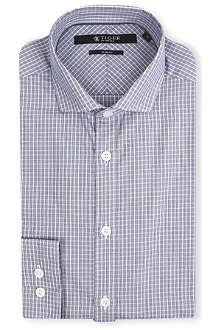 TIGER OF SWEDEN Graph check Steel shirt