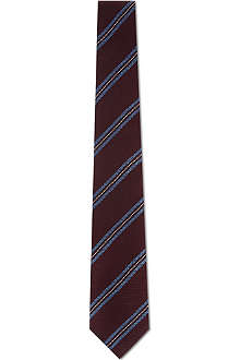 TIGER OF SWEDEN Textured diagonal stripe tie