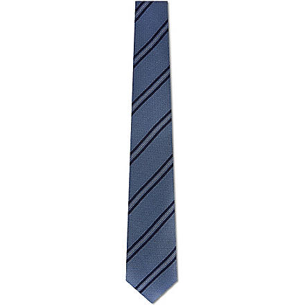 TIGER OF SWEDEN Textured diagonal stripe tie (Sky