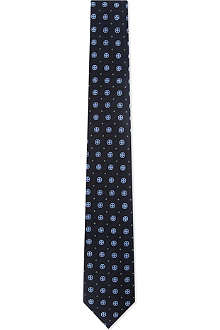 TIGER OF SWEDEN Mini polka dot silk tie