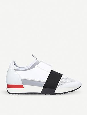 A white Balenciaga sneaker
