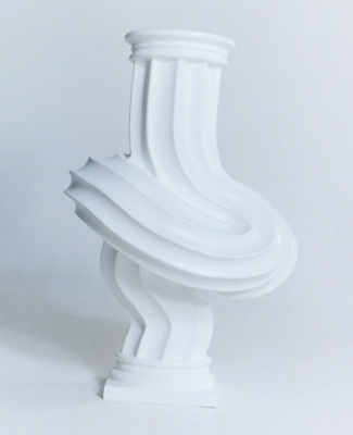 A twisted white column