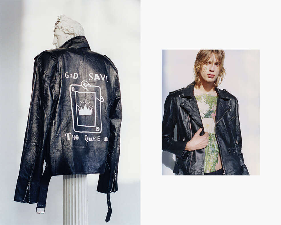 Deadwood recycled leather jacket