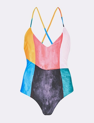 Mara Hoffman colour-block swimsuit