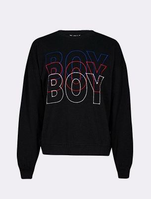 A men's Boy sweatshirt