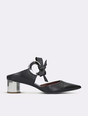 A block-heel shoe
