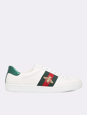 A men's Gucci trainer