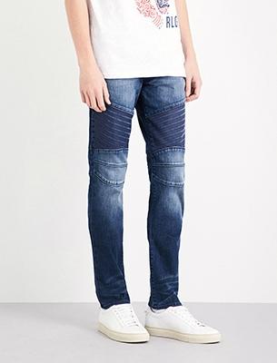 Biker style jeans