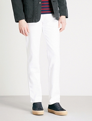 7 For All Mankind 白色牛仔裤