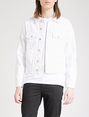 Sandro white denim jacket