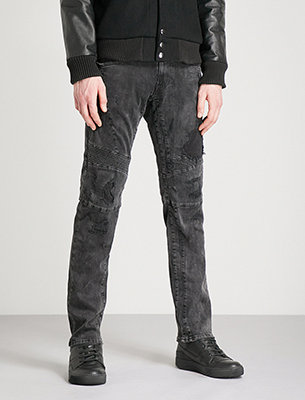Replay ripped black jeans
