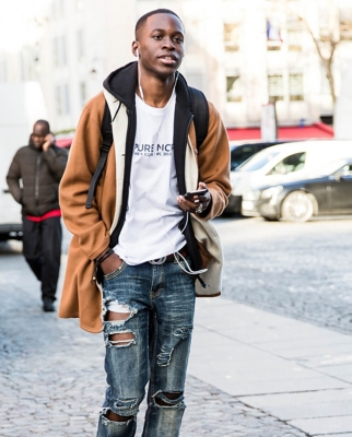 Ripped denim menswear