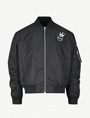 A men's bomber jacket