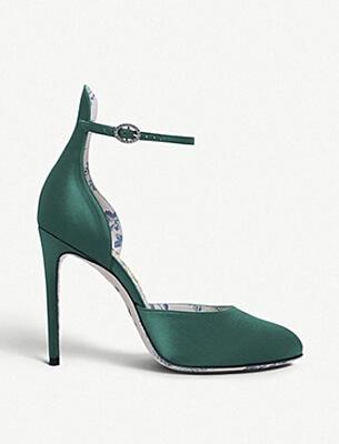 A high-heeled women's shoe