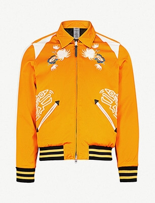 An orange bomber jacket