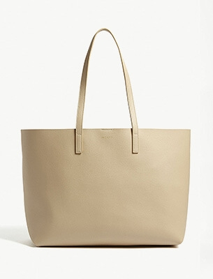 A Saint Laurent cream tote bag