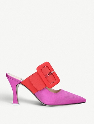 A colour-block heel