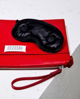 Maison Margiela eye mask and pouch