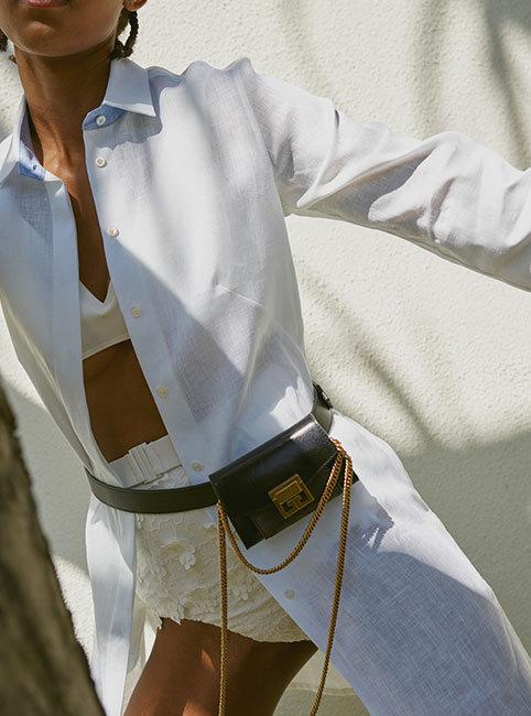 Zimmermann – bikini   PDN London – beach shirt   Givenchy – nano bag and  belt 25bf2805e
