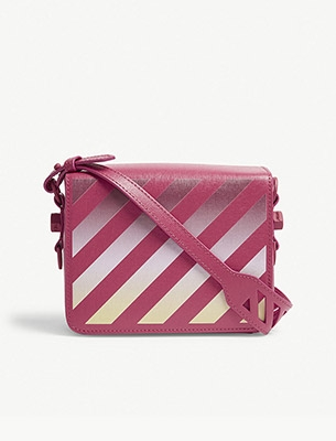 Off-White diagonal stipe cross body bag