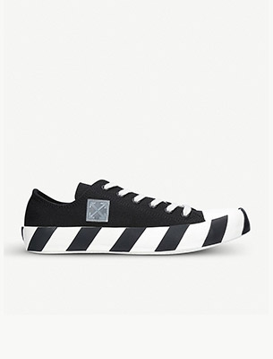 Off-White striped trainers