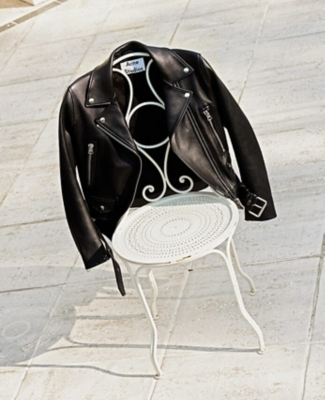An Acne Studios leather jacket