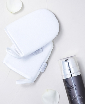Sarah Chapman face mitts and cleanser