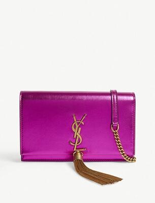 A pink YSL bag
