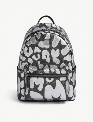 A printed backpack