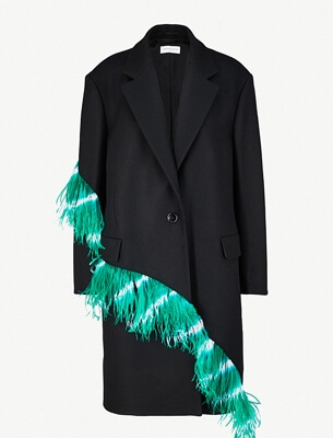 Dries Van Noten feather coat