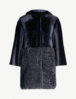 Drome shearling and leather coat