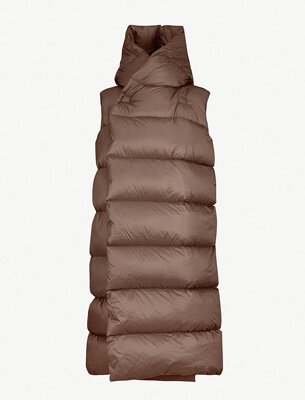 Rick Owens sleeveless puffer jacket