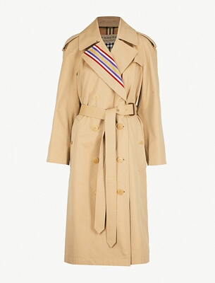 Burberry striped trench coat