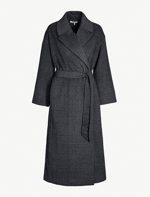 Ganni checked coat
