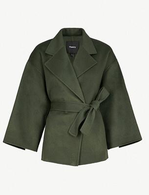 Theory cropped wool jacket