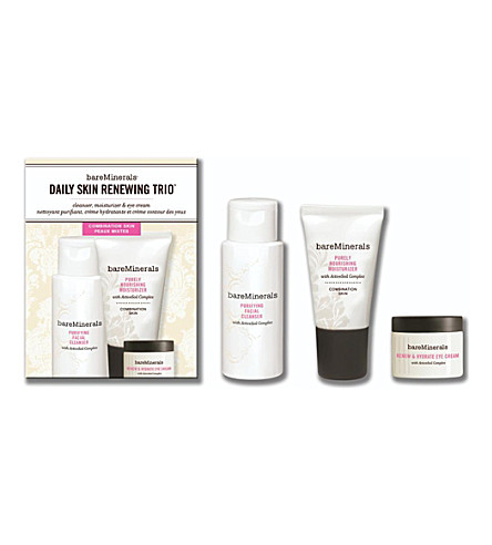 BARE MINERALS Daily Skin Renewing Trio: combination skin