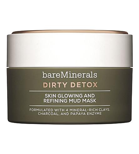 BARE MINERALS 肮脏的排毒皮肤发光和精炼泥浆面膜58g