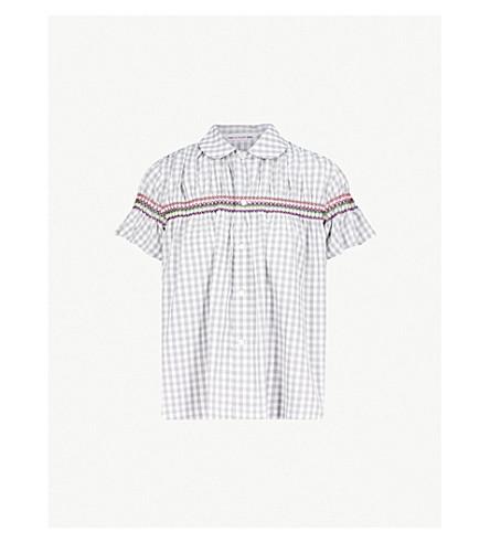 COMME COMME DES GARCONS Gingham cotton blouse (Multi