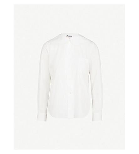 COMME COMME DES GARCONS Frilled-collar cotton-poplin shirt (White