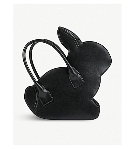 COMME COMME DES GARCONS Rabbit faux-leather tote bag (Black