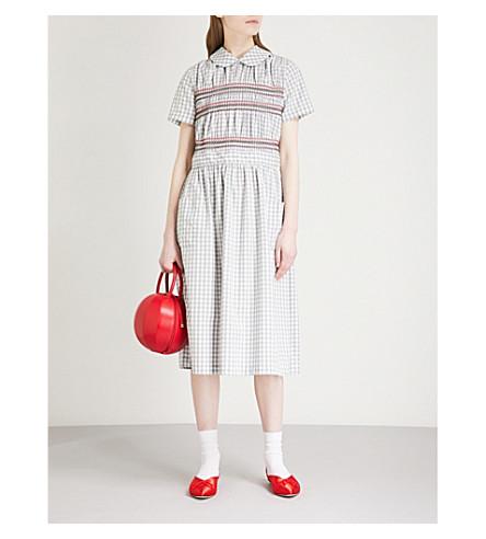 COMME COMME DES GARCONS Gingham cotton dress (Multi
