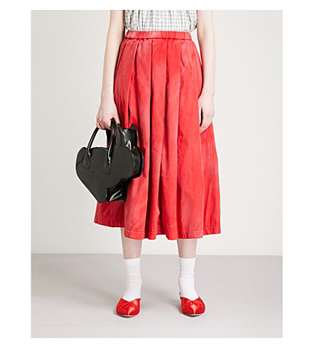 COMME COMME DES GARCONS Faded cotton skirt (Red