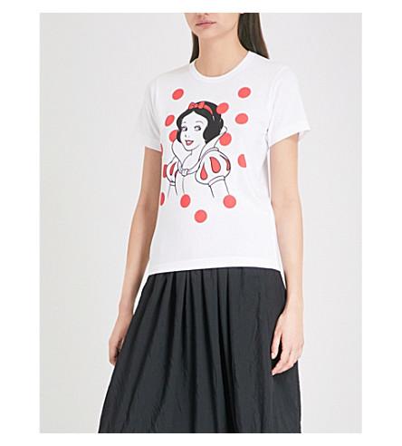 COMME COMME DES GARCONS Snow White print cotton-jersey T-shirt (White