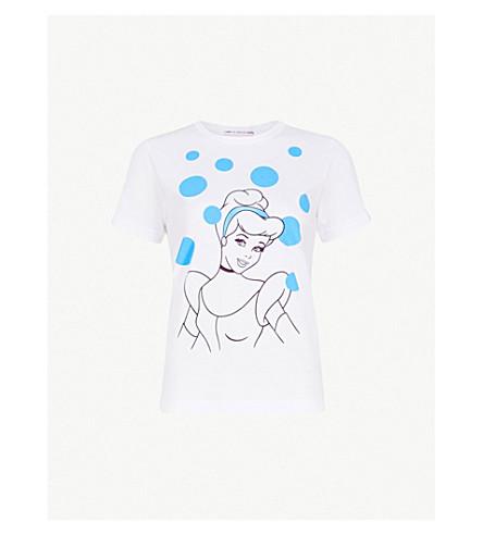 COMME COMME DES GARCONS Cinderella print cotton-jersey T-shirt (White