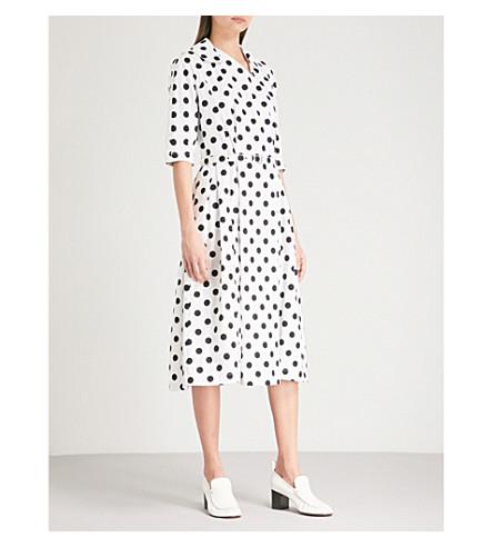 COMME COMME DES GARCONS Polka dot cotton dress (White