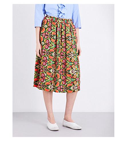 COMME COMME DES GARCONS Floral-print crepe skirt (A pattern